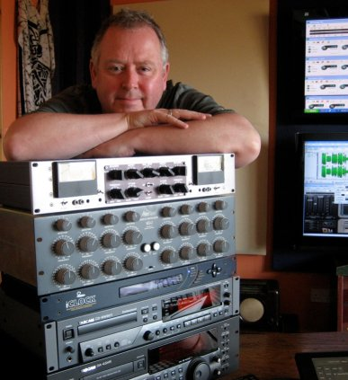 Dennis in the mastering studio